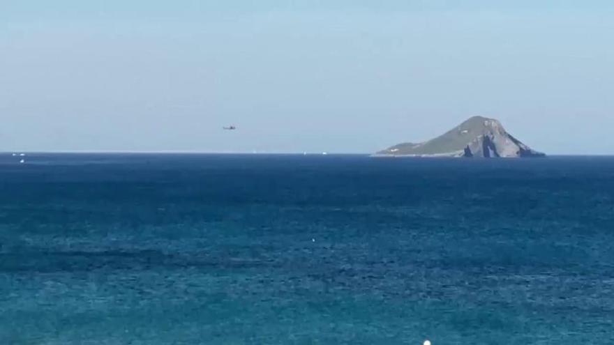 Un avión de la Patrulla Águila cae al mar en La Manga