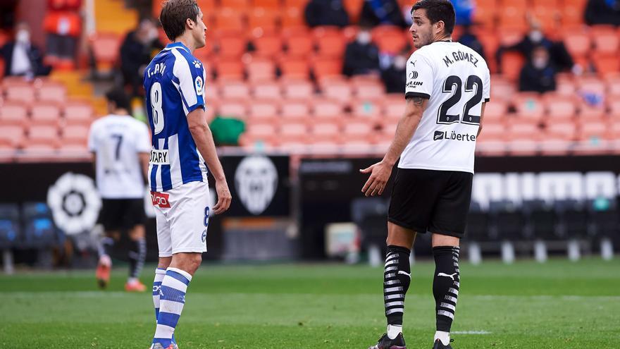 Valencia y Alavés se anulan en Mestalla