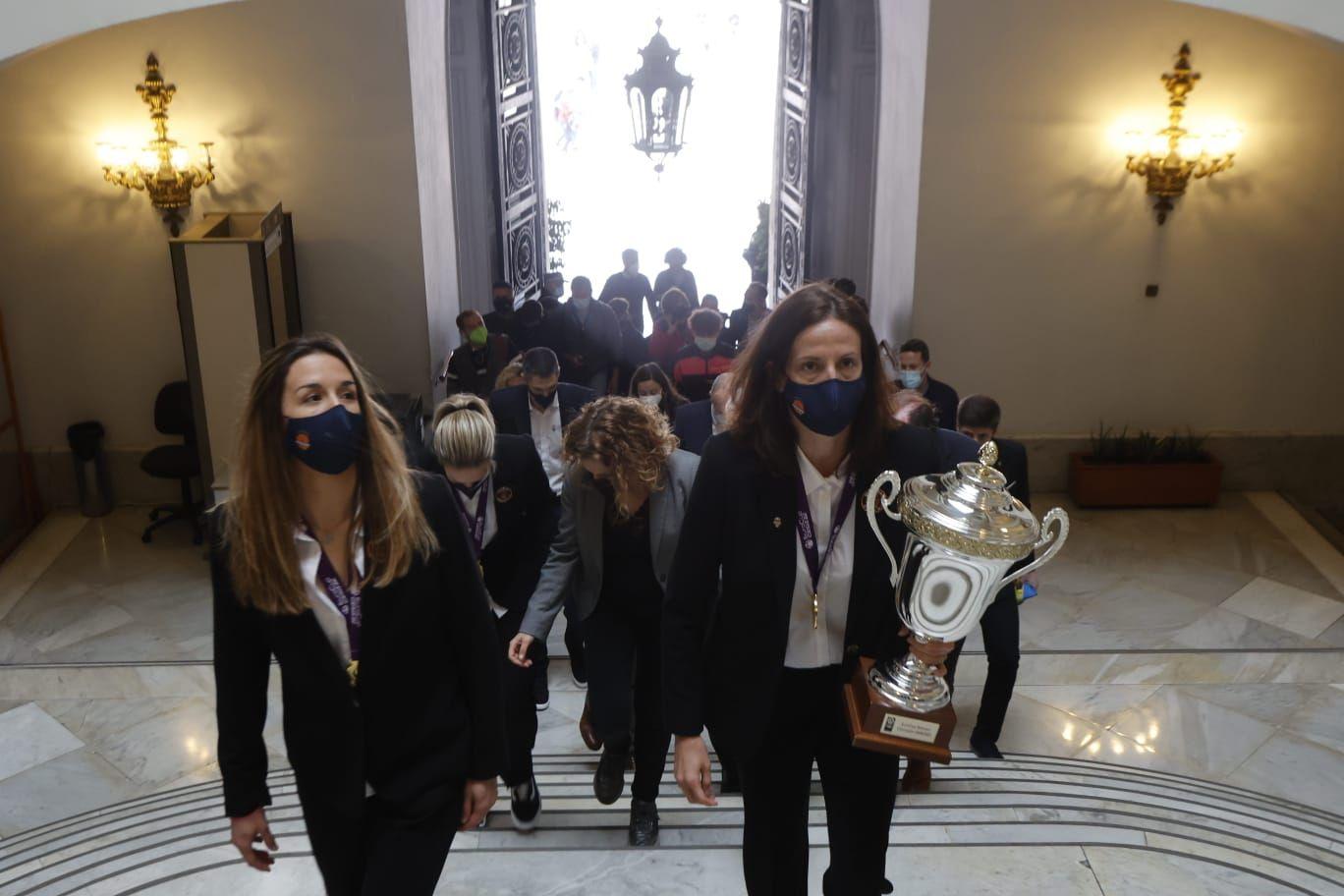 Las fotos del acto de celebración de la Eurocup Women