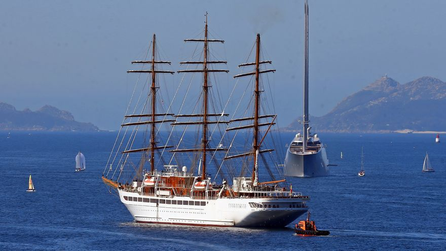 "Así comenzó a navegar el ""Sea Cloud Spirit"" en Vigo"