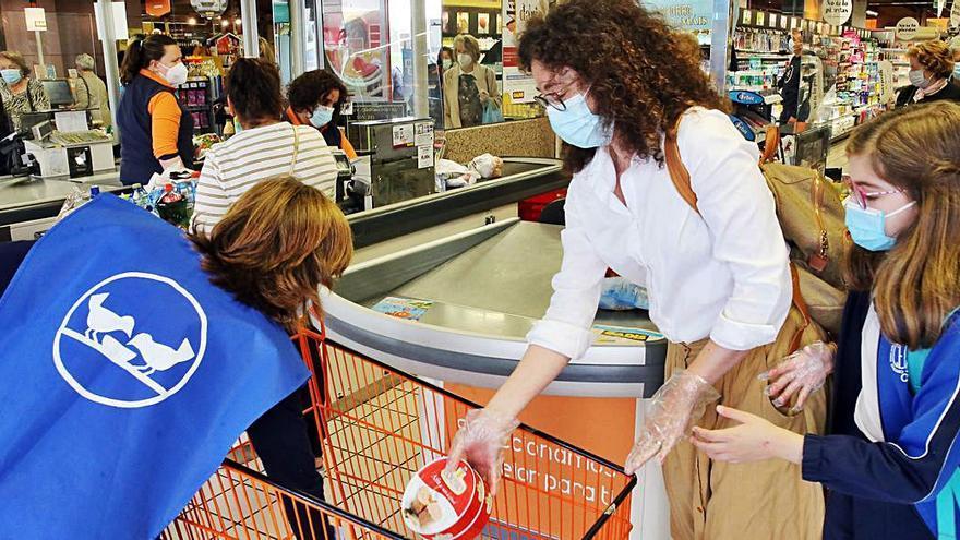 El Banco de Alimentos, de vuelta en el supermercado
