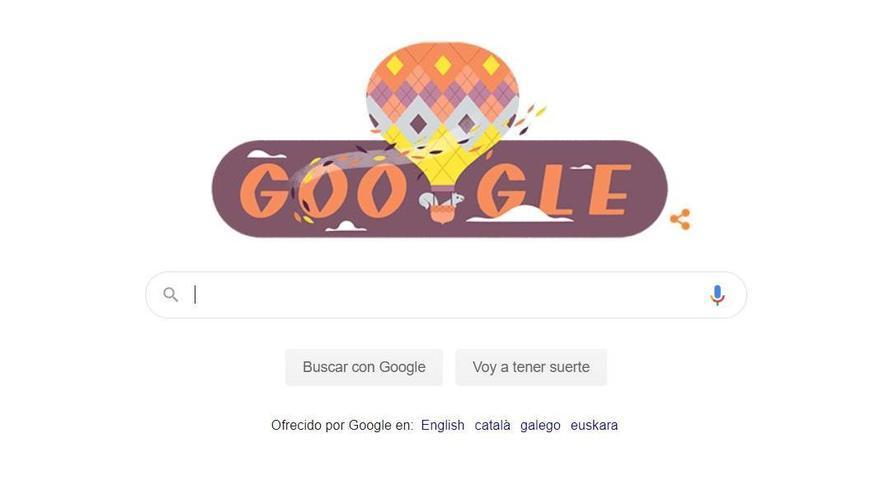 Google dedica su 'doodle' del día a la llegada del otoño