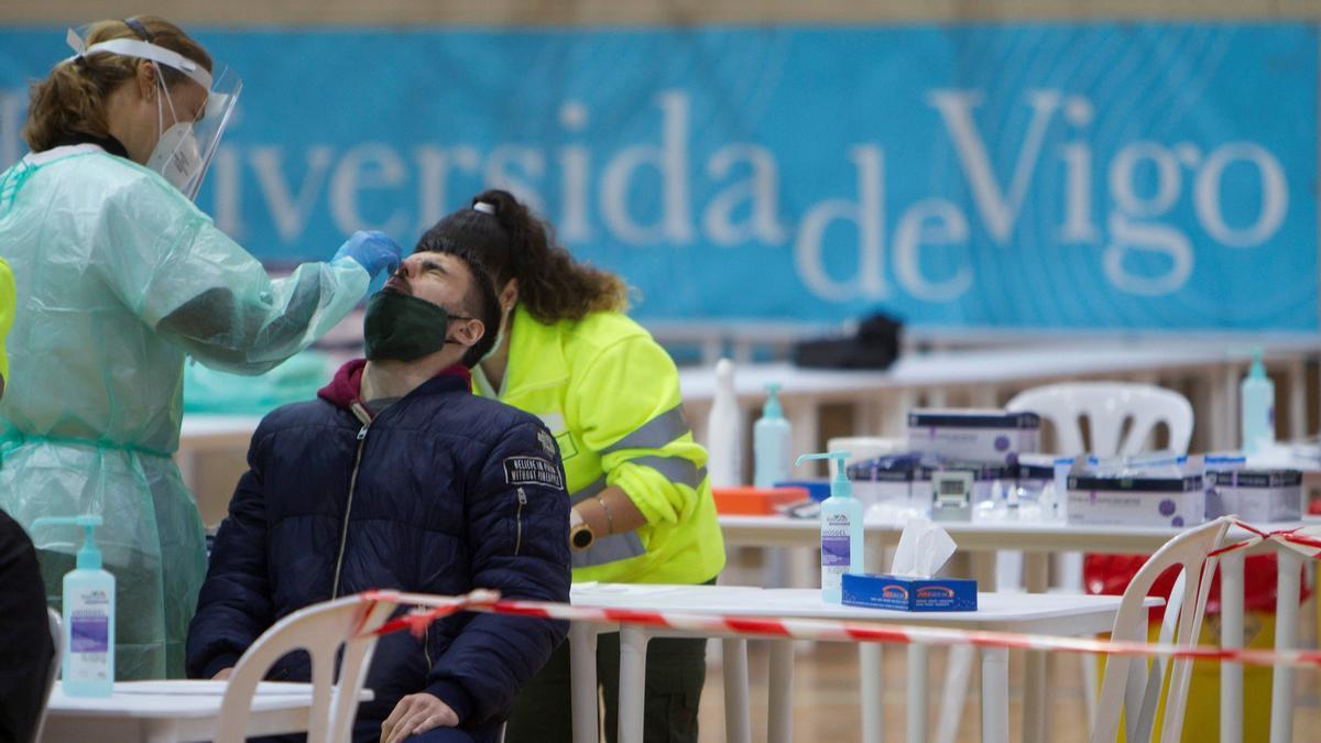 Test de coronavirus en Vigo.