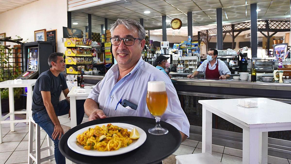 El hostelero Nicolás Navajas ha aprendido de la pandemia la necesidad de optimizar el negocio.