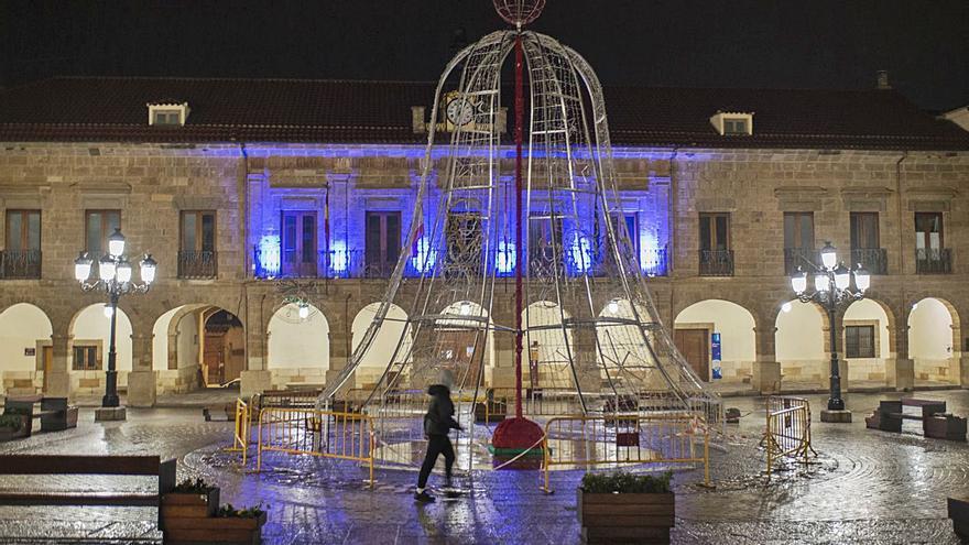 Fachadas azules en Benavente por el Día Mundial de la Diabetes