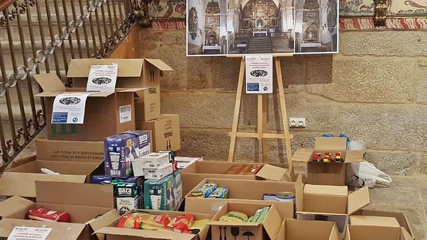 Los Remedios dejan 350 kilos de alimentos para medio centenar de familias de Sanabria