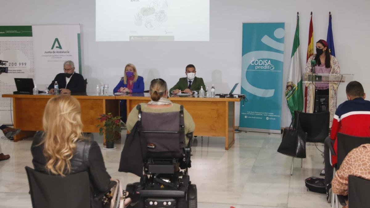Presentación de las jornadas sobre violencia de género en mujeres con discapacidad en la sede de Fepamic.