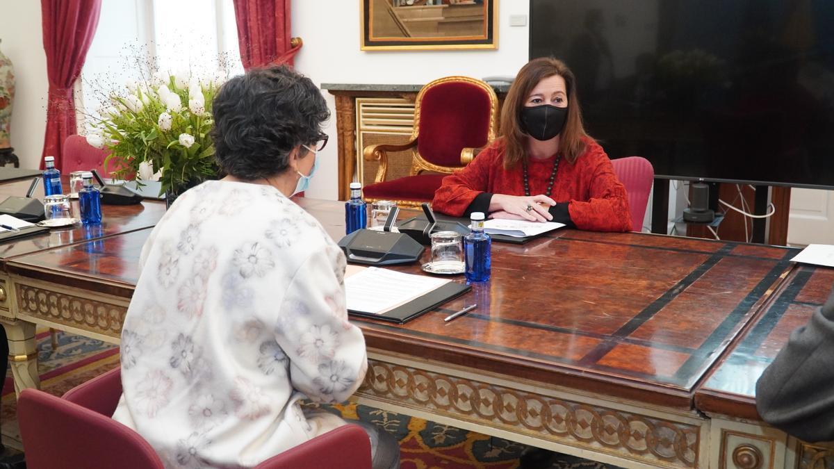 Francina Armengol se ha reunido con la ministra de Asuntos Exteriores en Madrid, Arancha González Laya