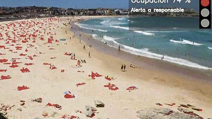 Telefónica diseña un sistema para controlar el aforo de las playas mediante cámaras