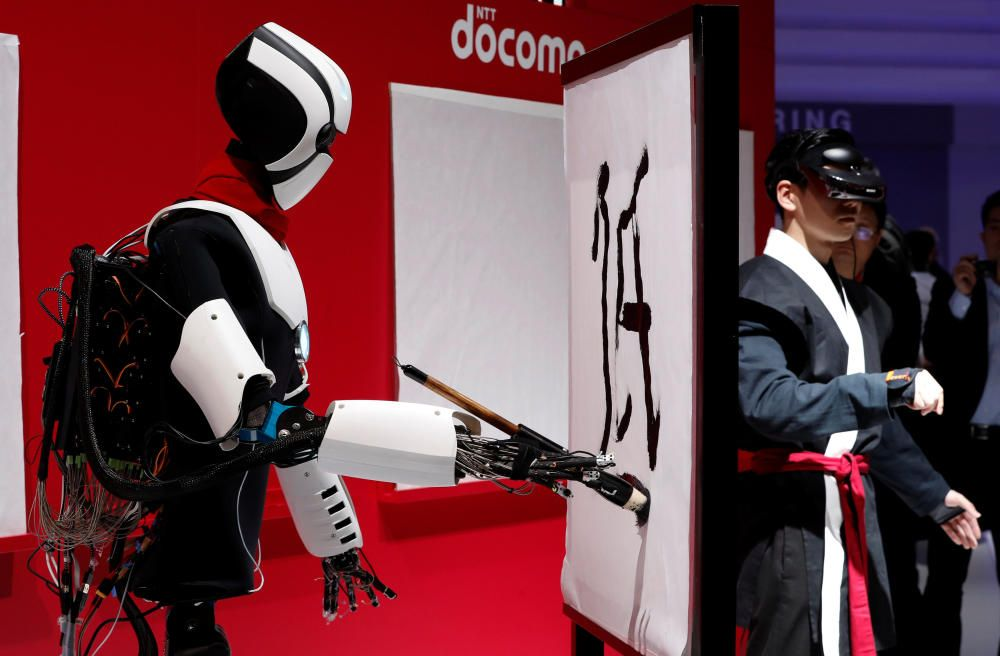 "The humanoid ""5G Robot"", that uses 5G to mirror ..."