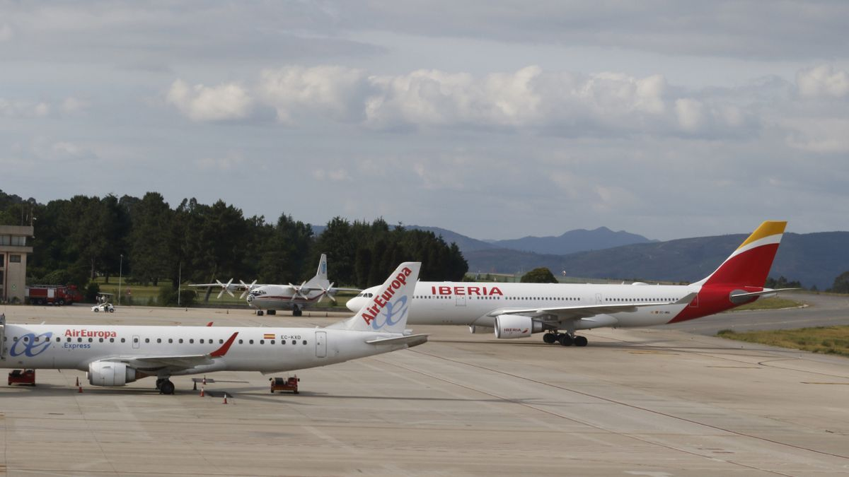 El Airbis 330 de Iberia que trajo a Vigo a casi 300 cruceristas de Pullmantur en 2017