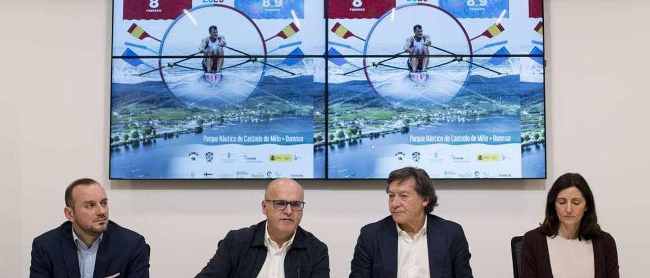 Esteban Suárez, Manuel Baltar, José Ramón Lete y Asunción Loriente, ayer durante la presentación. // Brais Lorenzo