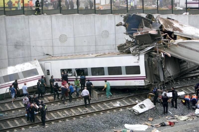 Fotogalería del accidente de Santiago