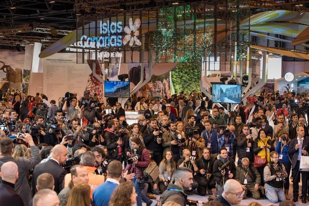 Inauguración del Pabellón de Canarias en la Feria Internacional de Turismo FITUR 2019.