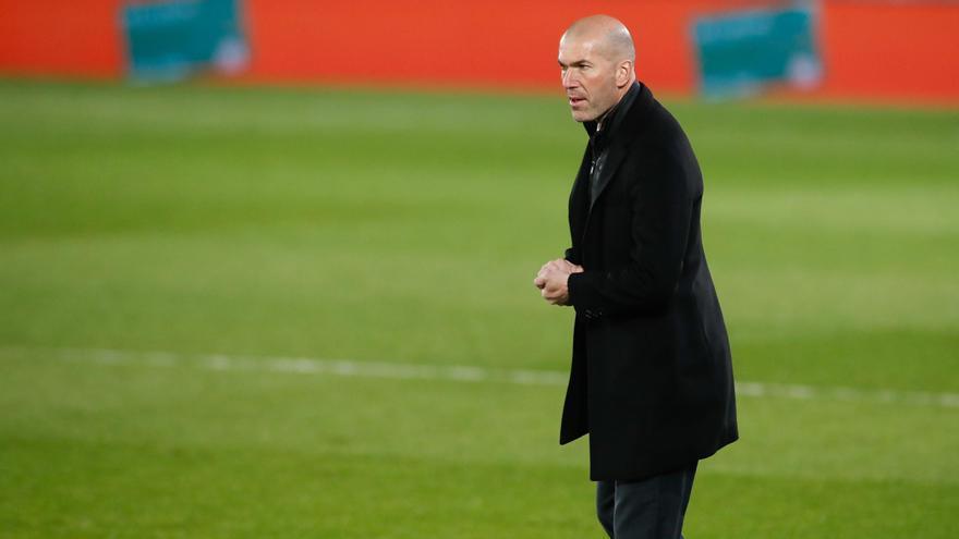 Zinedine Zidane, en un partido de Liga