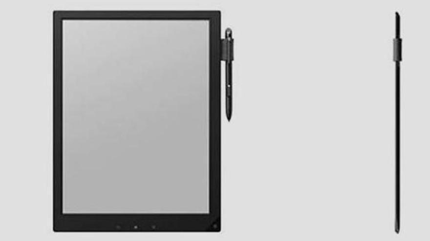 Sony muestra una tableta con tinta electrónica para estudiantes