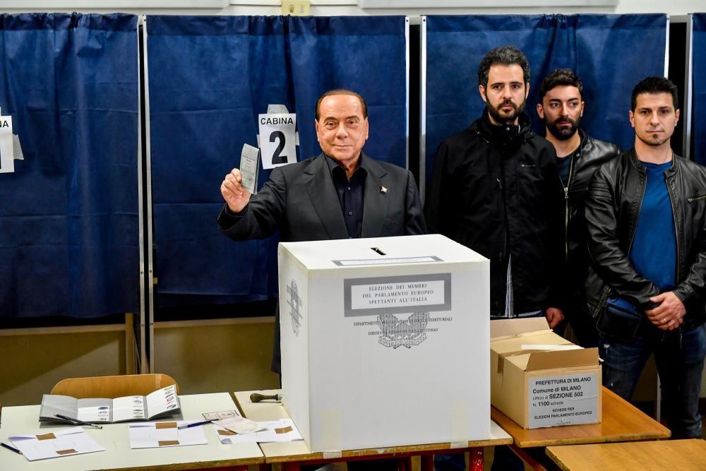 26 May 2019, Italy, Milan: Former Italian prime ...