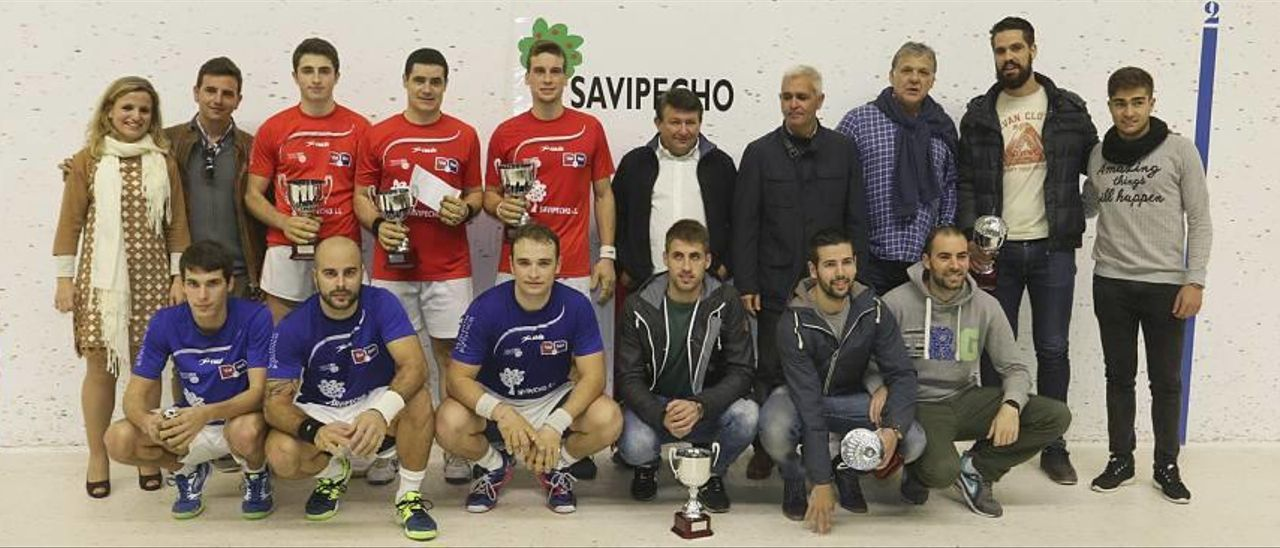 Moltó, Dorin y Raúl en raspall y Pere Roc II, Javi y Carlos al aire, campeones del Trofeu Savipecho