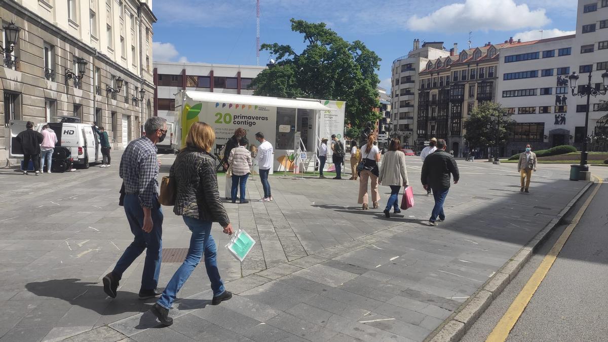 Parada del Bus de Parque Principado en Oviedo