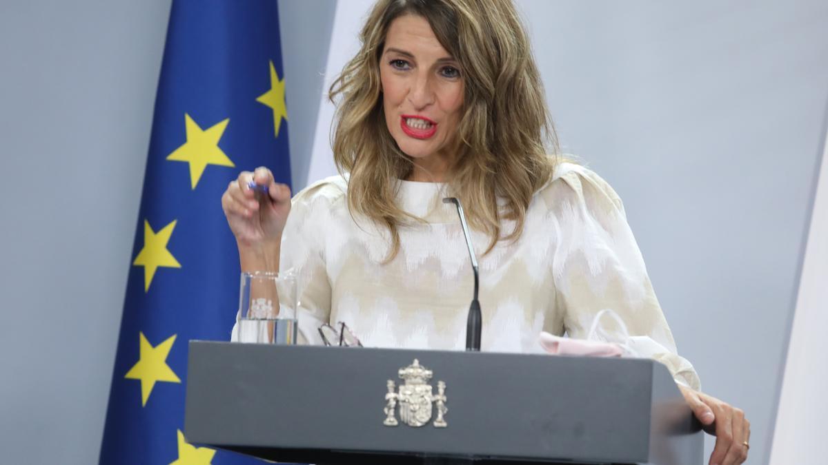 La ministra Trabajo y Economía Social, Yolanda Díaz