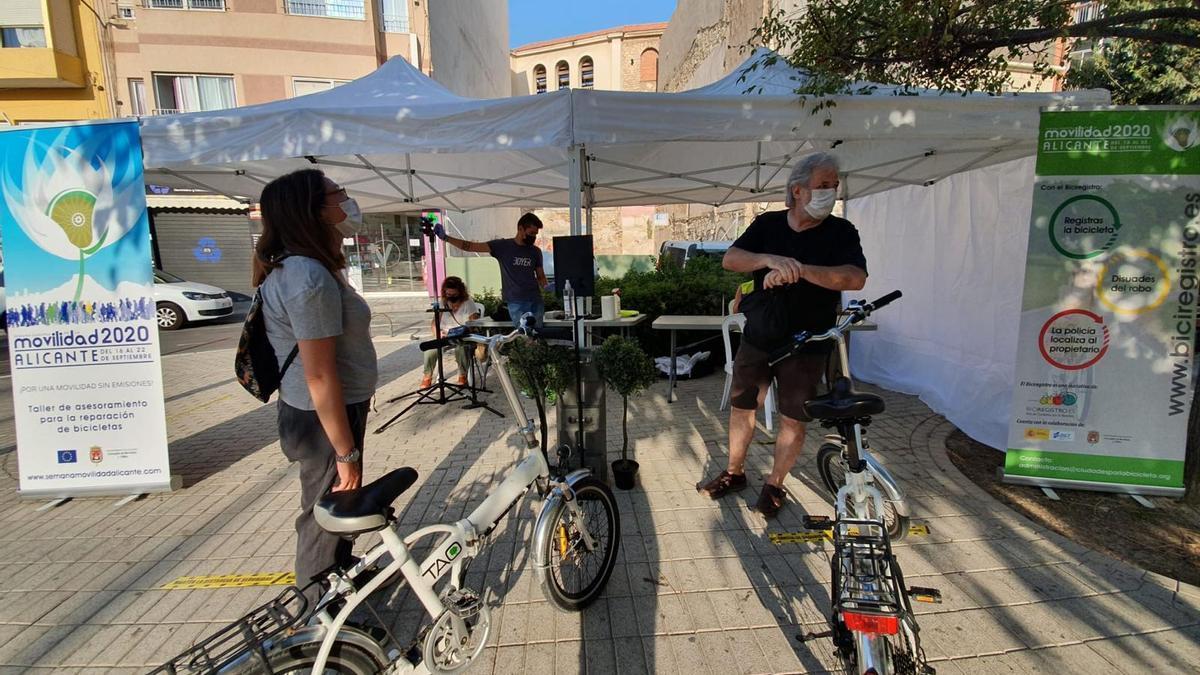 Imagen del día de las actividades por la Semana de la Movilidad
