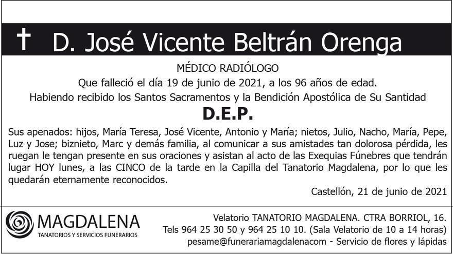 D. José Vicente Beltrán Orenga