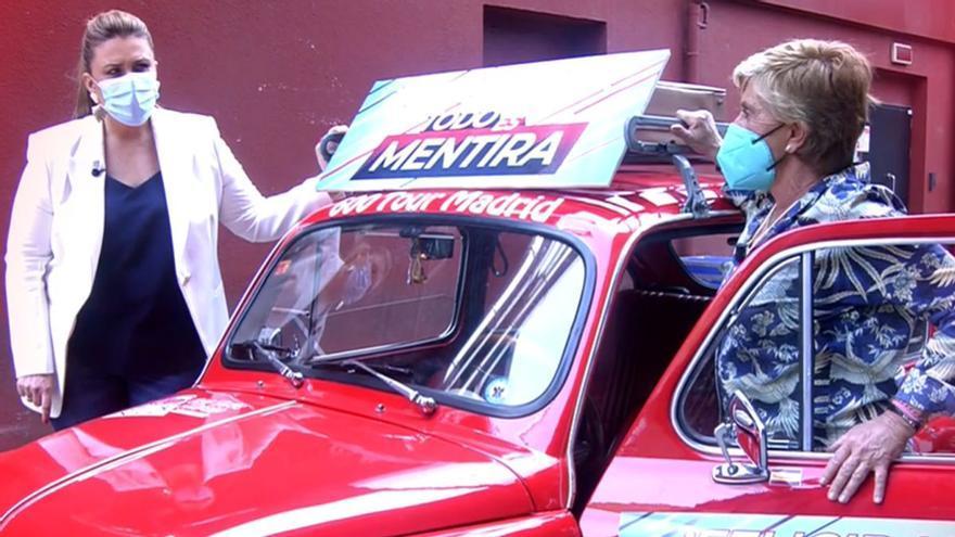 """Chelo se cuela en el plató de 'TEM' a bordo de un coche: """"Mi primera noche de amor con Parada fue en un 600"""""""