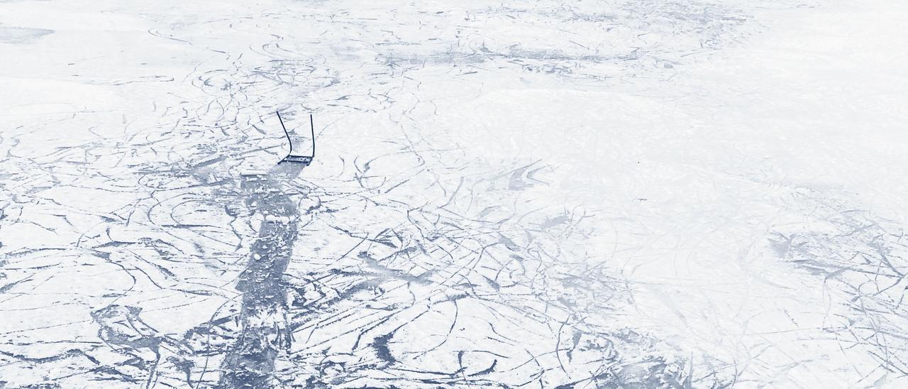 Lago helado en Wisconsin