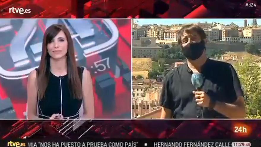 La sorprendente crónica del calor en Toledo de un periodista de TVE
