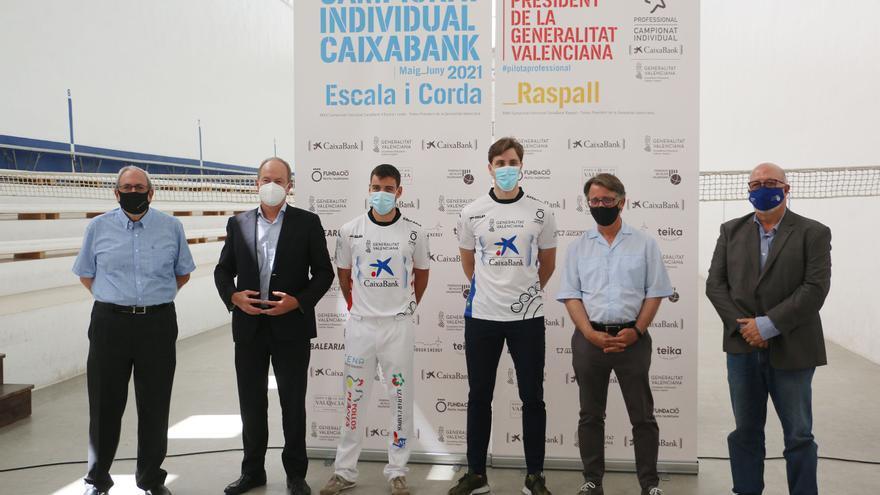 Pelayo, preparat per a la final del Individual CaixaBank – Trofeu President de la Generalitat  d'escala i corda