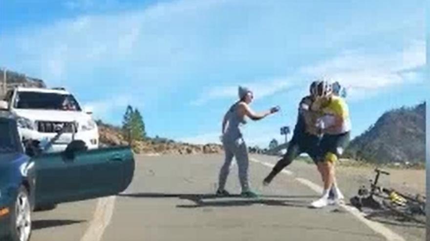 Agresión a un ciclista en Cercados de Araña