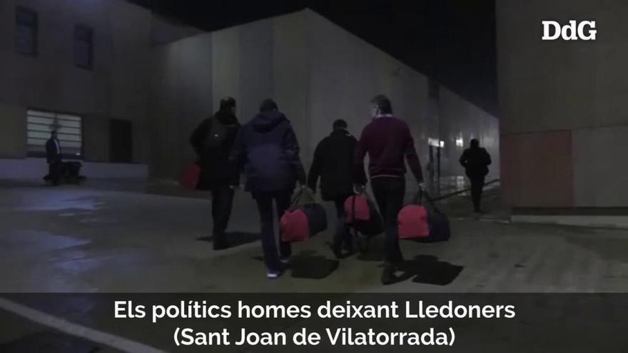 Imatges inèdites del trasllat dels líders independentistes a Madrid pel judici a l'1-O