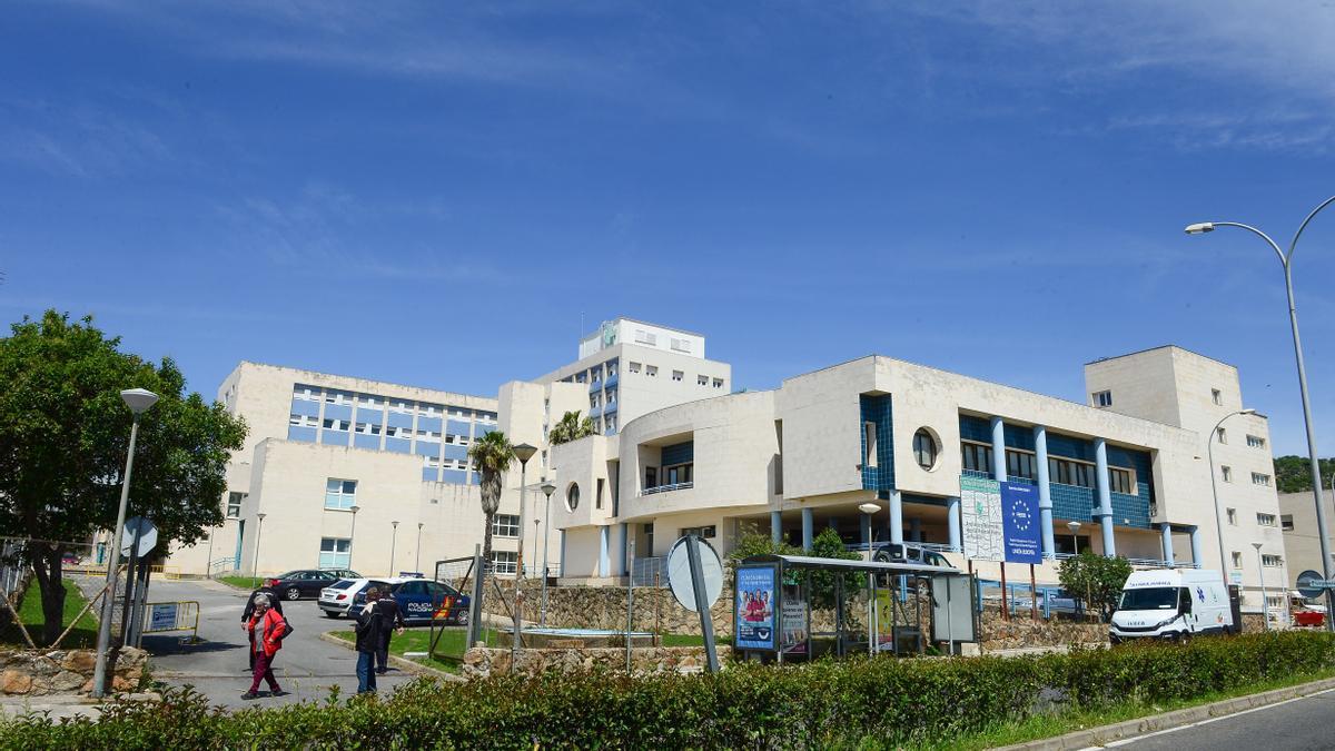 Una vista del hospital Virgen del Puerto, donde solo hay tres pacientes con covid ingresados.