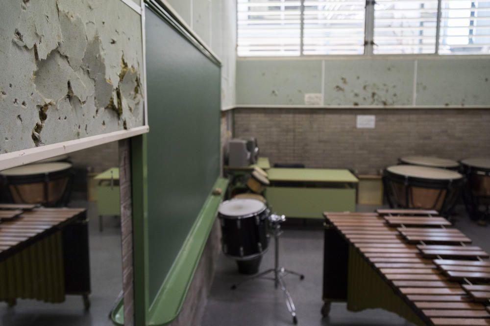 Así está el Conservatorio Superior de Castelló