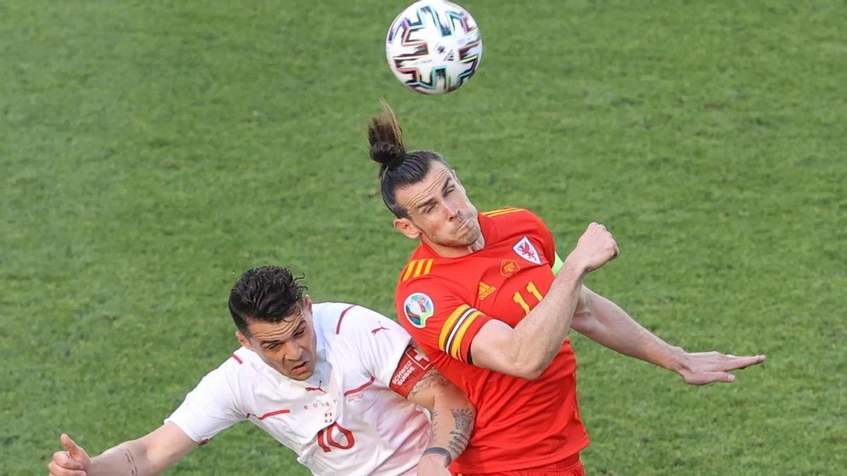 El jugador Gareth Bale durante el partido contra Suiza.