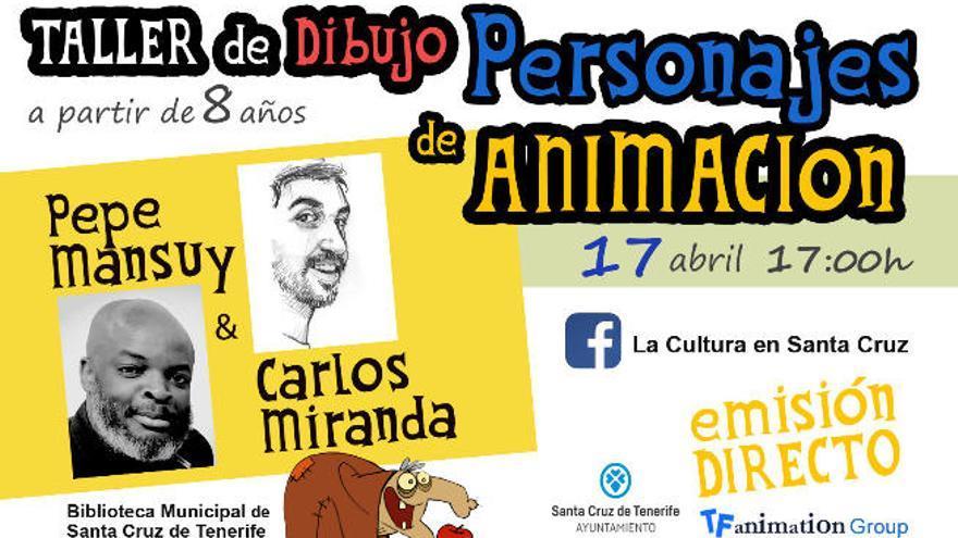 La Biblioteca Municipal organiza un taller de dibujo de personajes de animación