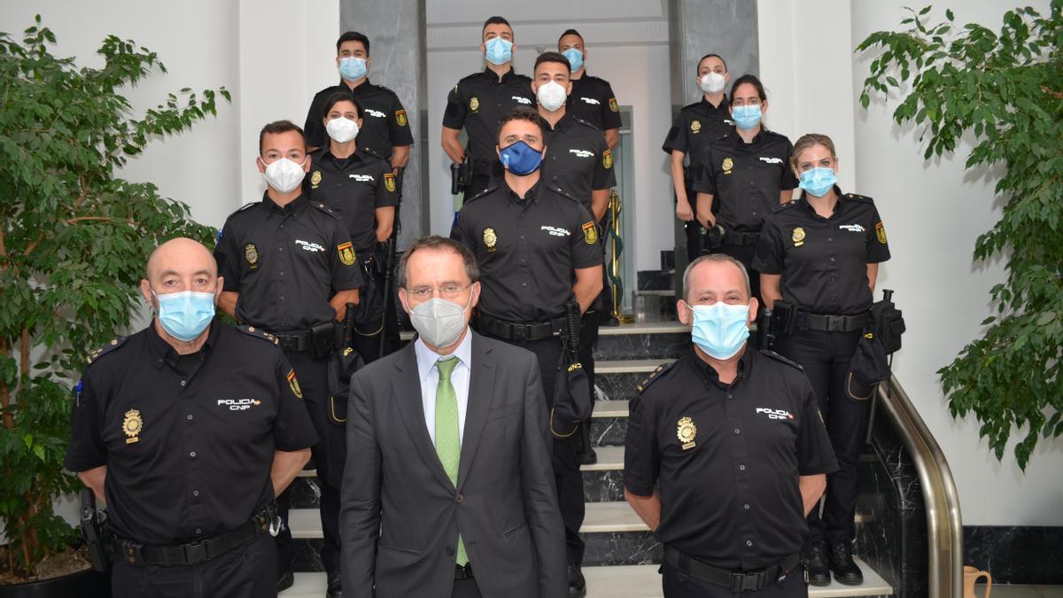 Los nuevos agentes de la Policía Nacional de Zamora en prácticas.