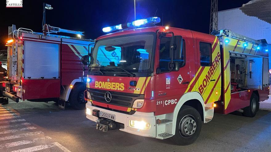 Incendio en un edificio de ocho alturas de Burriana