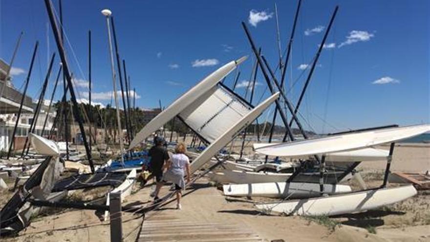 Las fuertes rachas de viento dejan su huella en la provincia