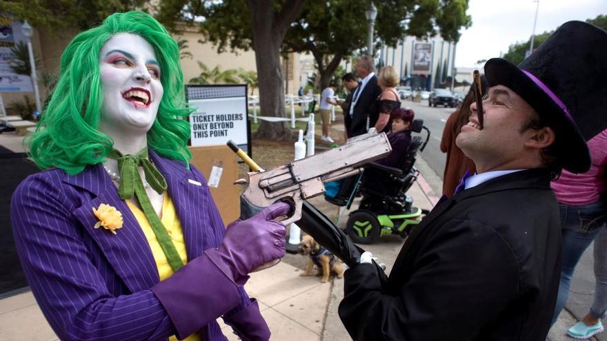 Participantes de la Comic Con, en San Diego.