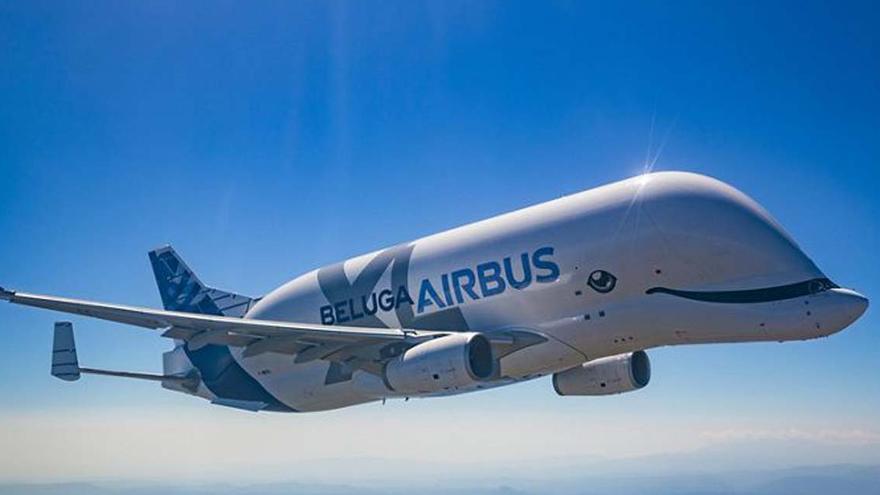 A bordo del Beluga XL que aterrizará en Vigo