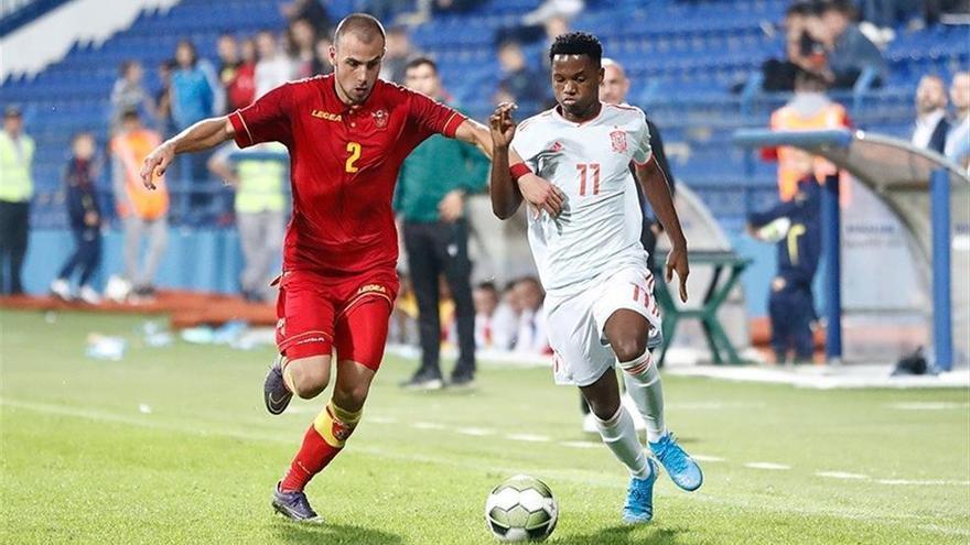 España supera a Montenegro en el estreno de Ansu Fati