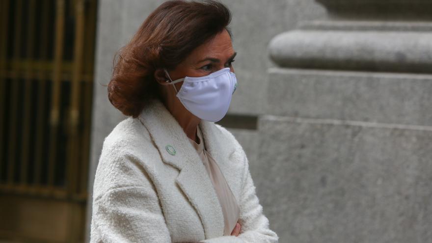 Calvo defiende el veto a las manifestaciones del 8M en Madrid por los datos de la pandemia