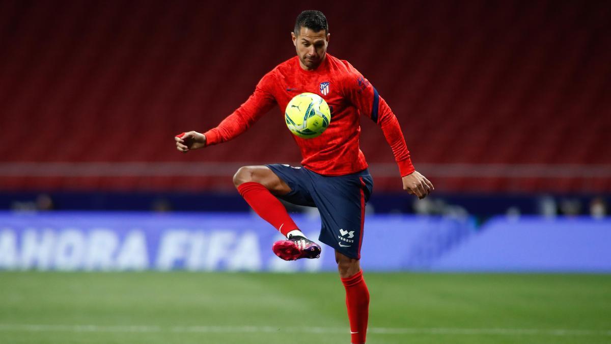 Vitolo, con el Atlético de Madrid