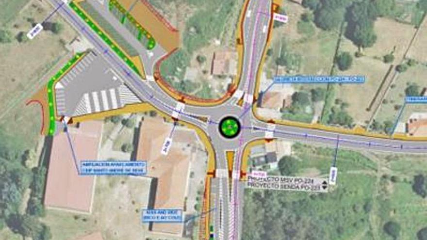 Sale adelante el proyecto de seguridad vial y peatonal de Santo André de Xeve