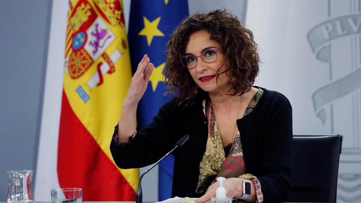 La ministra de Hacienda y portavoz, María Jesús Montero.