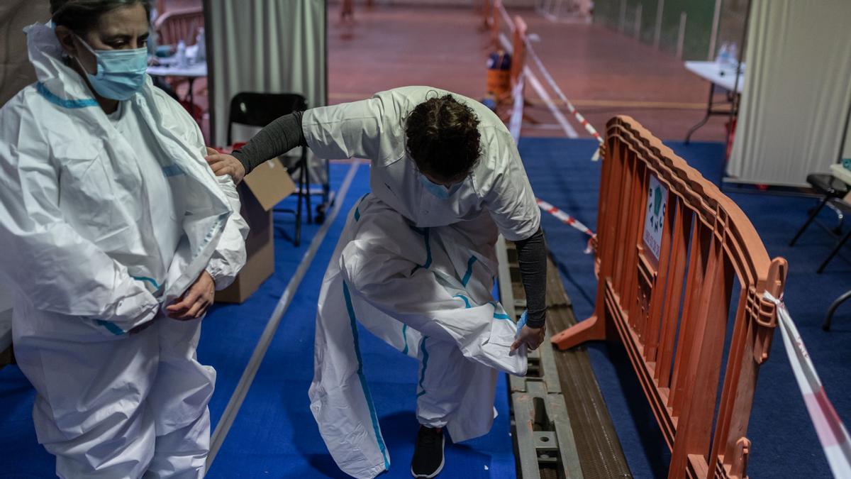 GALERÍA | Cribado en Monfarracinos del coronavirus: así se desarrolla la segunda jornada