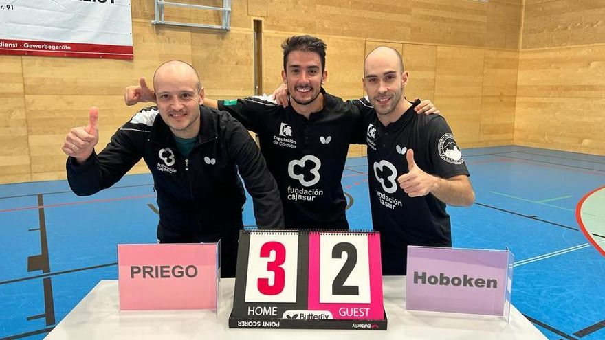 El Cajasur Priego pasa a la segunda ronda de la Copa de Europa de tenis de mesa