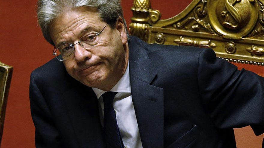 Gentiloni, investido primer ministro con el apoyo parlamentario