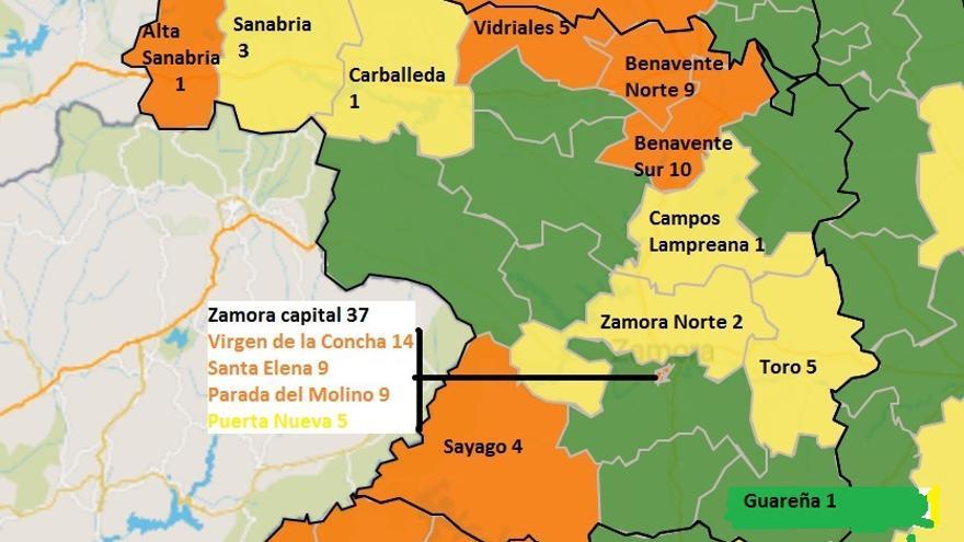 Los contagios COVID empeoran la ultima semana en la Zamora capital y Benavente